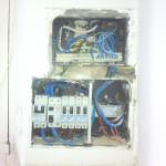 Old panel & conex. box